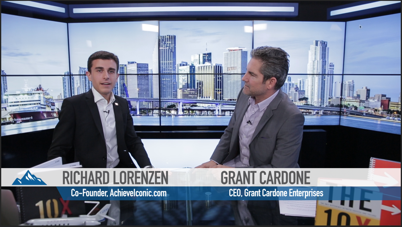 our exclusive video interview grant cardone achieve iconic